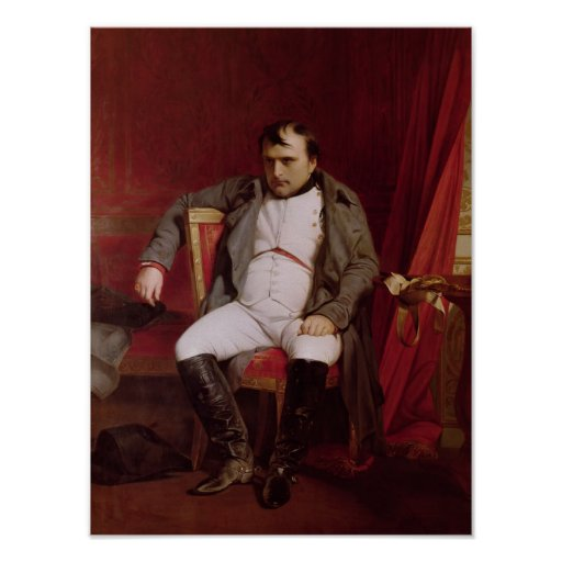 Napoleon  after his Abdication Poster
