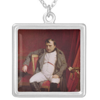 Napoleon  after his Abdication Silver Plated Necklace