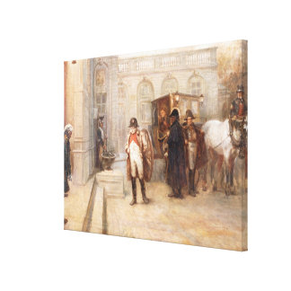 Napoleon after Waterloo (oil on canvas) Canvas Print