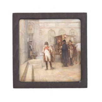 Napoleon after Waterloo (oil on canvas) Premium Keepsake Boxes