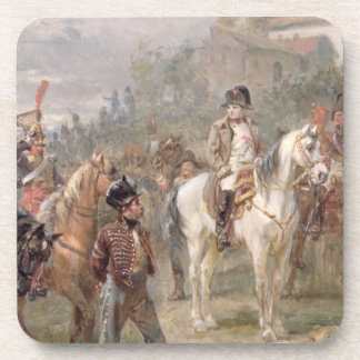 Napoleon and his Troops (oil on panel) (pair of 12 Drink Coaster