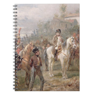 Napoleon and his Troops (oil on panel) (pair of 12 Journal