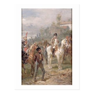 Napoleon and his Troops (oil on panel) (pair of 12 Postcard