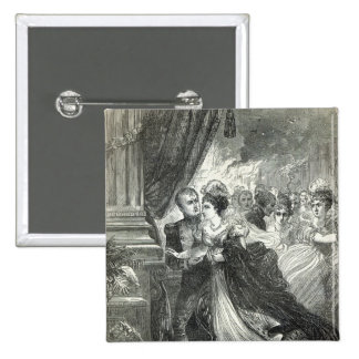Napoleon and Marie-Louise escaping from the 2 Inch Square Button