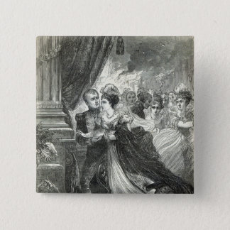 Napoleon and Marie-Louise escaping from the Pinback Button