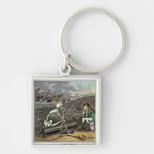 Napoleon and skeleton, 18th keychain