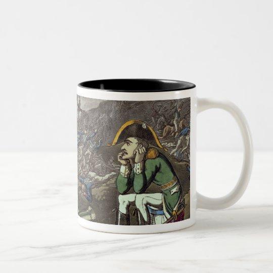 Napoleon and skeleton, 18th Two-Tone coffee mug