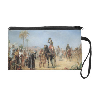 Napoleon Arriving at an Egyptian Oasis (oil on can Wristlet Purses