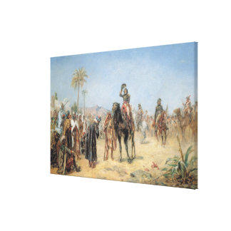 Napoleon Arriving at an Egyptian Oasis (oil on can Canvas Print