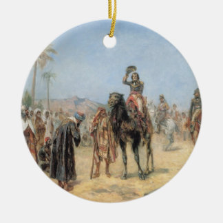 Napoleon Arriving at an Egyptian Oasis (oil on can Ceramic Ornament