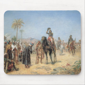 Napoleon Arriving at an Egyptian Oasis (oil on can Mouse Pad
