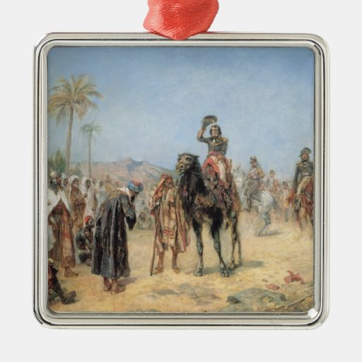 Napoleon Arriving at an Egyptian Oasis (oil on can Christmas Ornaments