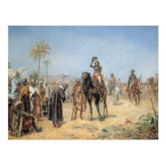 Napoleon Arriving at an Egyptian Oasis (oil on can Postcard
