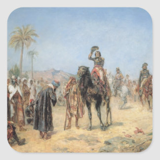 Napoleon Arriving at an Egyptian Oasis oil on can Stickers