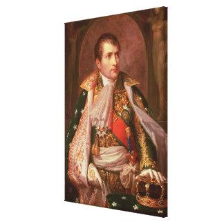 Napoleon Bonaparte (1769-1821), como rey de Italia Impresion En Lona
