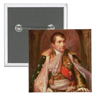 Napoleon Bonaparte (1769-1821), como rey de Italia Pin Cuadrada 5 Cm
