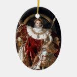 Napoleon Bonaparte Adorno Navideño Ovalado De Cerámica