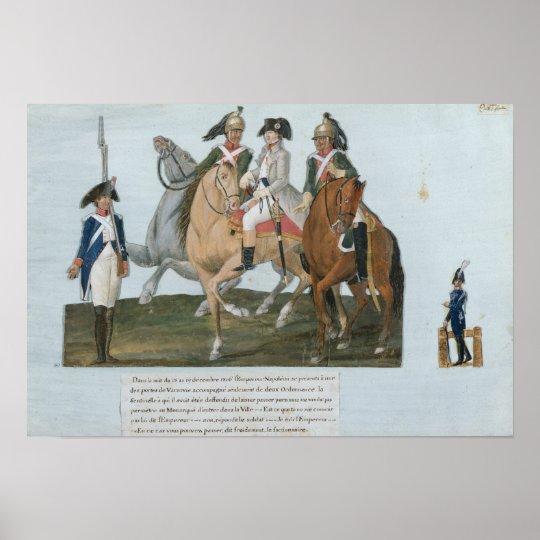 Napoleon Bonaparte  and the Varsovian Sentry Poster