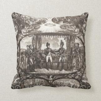 Napoleon Bonaparte and Tsar Alexander I at Tilsit Throw Pillows