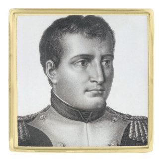 Napoleon Bonaparte Antique Engraving Gold Finish Lapel Pin