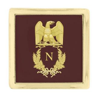 Napoleon Bonaparte Eagle Emblem Gold Finish Lapel Pin