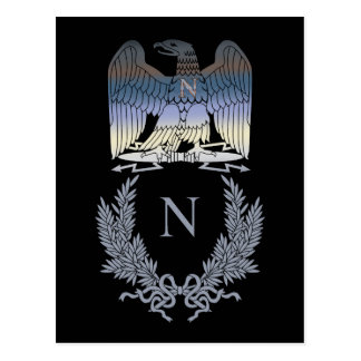 Napoleon Bonaparte Eagle Emblem Postcard