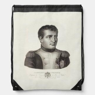 Napoleon Bonaparte Elegant Antique Engraving Drawstring Backpacks