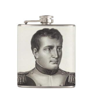 Napoleon Bonaparte Elegant Antique Engraving Flask