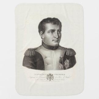 Napoleon Bonaparte Elegant Antique Engraving Stroller Blanket