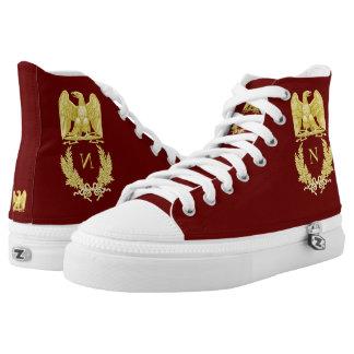Napoleon Bonaparte Emblem High-Top Sneakers