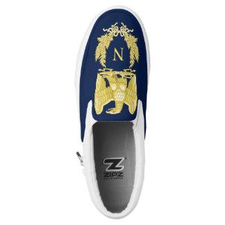 Napoleon Bonaparte Emblem Slip-On Sneakers