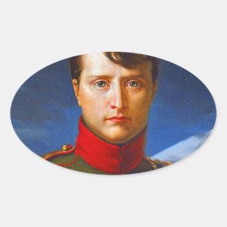 napoleon bonaparte emperor oval sticker