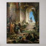 Napoleon Bonaparte en la mezquita magnífica en El  Póster