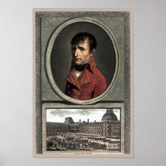 Napoleon Bonaparte -- Estudio de la tropa Póster