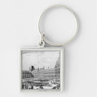 Napoleon Bonaparte  First Consul Silver-Colored Square Keychain