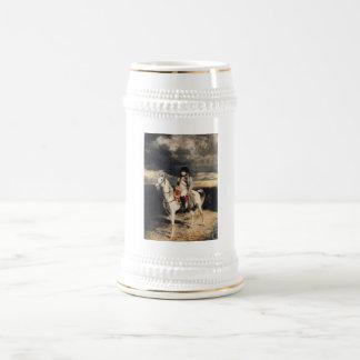 Napoleon Bonaparte On Horseback 18 Oz Beer Stein