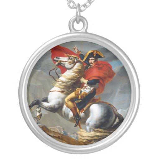 Napoleon Bonaparte Painting by Jacques-Louis David Round Pendant Necklace