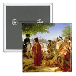 Napoleon Bonaparte Pardoning los rebeldes Pin Cuadrado