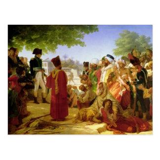 Napoleon Bonaparte Pardoning los rebeldes Postal