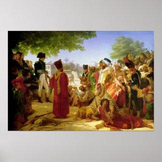 Napoleon Bonaparte Pardoning los rebeldes Póster