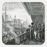 Napoleon Bonaparte Pegatina Cuadrada