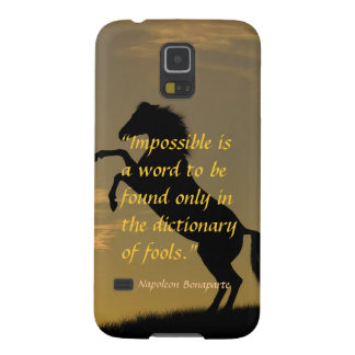 Napoleon Bonaparte Powerful Quote horse background Case For Galaxy S5