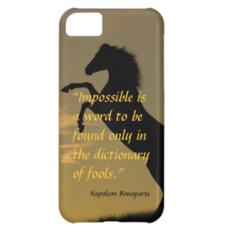 Napoleon Bonaparte Powerful Quote horse background Cover For iPhone 5C