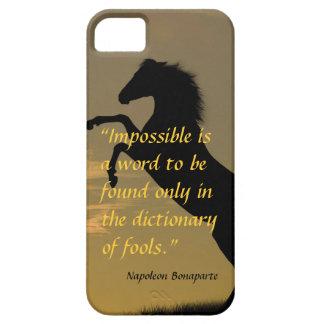 Napoleon Bonaparte Powerful Quote horse background iPhone SE/5/5s Case