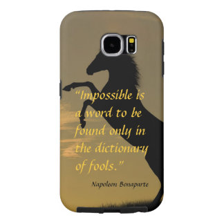 Napoleon Bonaparte Powerful Quote horse background Samsung Galaxy S6 Case