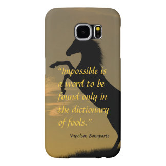 Napoleon Bonaparte Powerful Quote horse background Samsung Galaxy S6 Cases
