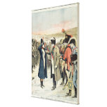 Napoleon Bonaparte  presenting the female Canvas Print