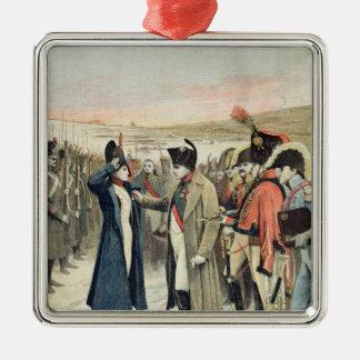Napoleon Bonaparte  presenting the female Metal Ornament