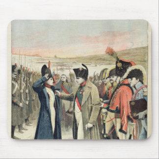 Napoleon Bonaparte  presenting the female Mouse Pad
