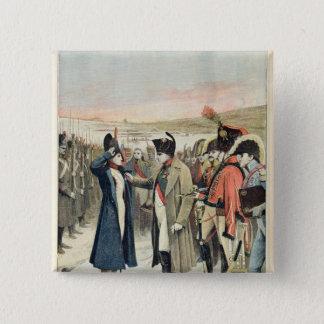 Napoleon Bonaparte  presenting the female Pinback Button